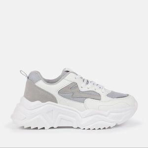 Chunky Sole Vegan-Suede Sneakers NWT